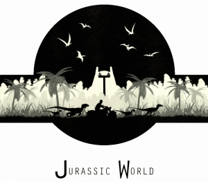 Original design by LandLCreations: http://landlcreations.deviantart.com/art/Jurassic-World-T-shirt-Design-522335613